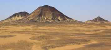 Colline in deserto nero fotografia stock libera da diritti