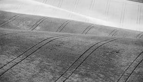 Colline di Ceco Moravia agricoltura Terreni arabili in primavera Immagini Stock Libere da Diritti