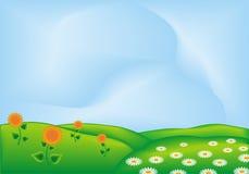 Colline di fioritura Fotografia Stock Libera da Diritti