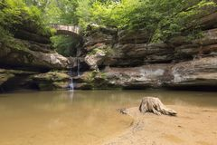 Colline di Hocking, cascate, belle, Ohio, viaggio fotografia stock