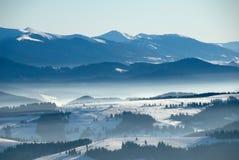 Colline di inverno Fotografia Stock Libera da Diritti