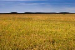 Colline di mistero nella prateria di Kansas Tallgrass Fotografia Stock