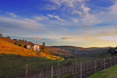 colline di panorama del friuli Italia di ipplis Immagine Stock