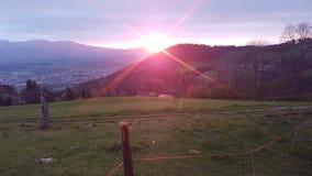 Colline di tramonto immagini stock