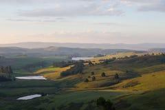Colline di verdi - montagne di Drakensberg Fotografia Stock
