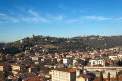 Colline di Verona City nell'inverno - Italia Immagini Stock Libere da Diritti