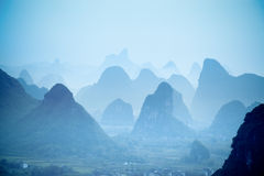 Colline di Yangshuo Immagine Stock Libera da Diritti