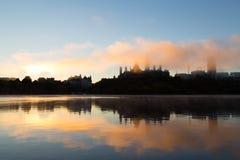 Colline du Parlement au lever de soleil images stock