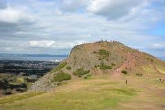 Colline du ` s du Roi Arthur, Edimbourg photos libres de droits