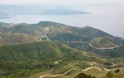Colline e baia blu, Grecia Immagine Stock Libera da Diritti