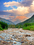 Colline e fiume Fotografia Stock