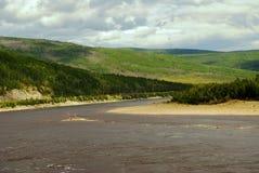 Colline e fiume Fotografia Stock Libera da Diritti