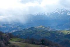 Colline nell'Abruzzo Fotografia Stock Libera da Diritti