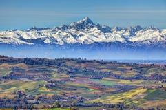 Colline e montagne. Piemonte, Italia. Fotografie Stock