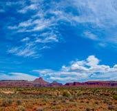 Colline e nuvole in canyon di Frye immagine stock