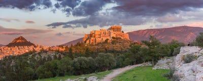 Colline et parthenon d'Acropole à Athènes, Grèce photos libres de droits