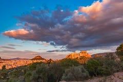 Colline et parthenon d'Acropole à Athènes, Grèce photos stock