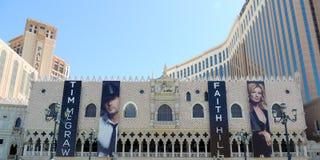 Colline et Tim McGraw de foi au vénitien à Las Vegas Photographie stock