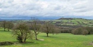 Colline Huddersfield de château Images libres de droits