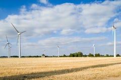 Colline Leicesterschire Inghilterra del parco eolico sei immagini stock