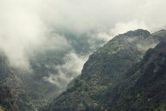Colline nella nebbia Fotografia Stock Libera da Diritti