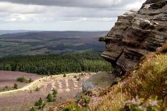 Colline Northumberland di Simonside Fotografia Stock