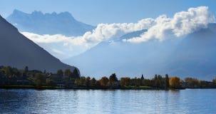 Colline nuvolose di Montreux Fotografie Stock