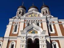 Colline orthodoxe russe de château de Toompea de cathédrale de Tallinn Estonie Images libres de droits