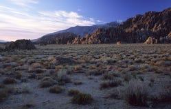 Colline pedemontana del deserto della sierra Nevada, California Fotografia Stock Libera da Diritti
