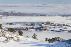 Colline pedemontana della fortificazione Collins, Colorado Fotografia Stock