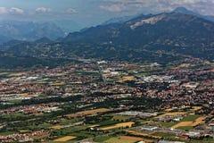 Colline pedemontana delle alpi di Bergamasque Fotografia Stock