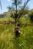 Colline pedemontana delle montagne di Drakensburg Immagini Stock Libere da Diritti