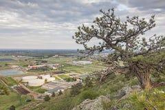 Colline pedemontana di Fort Collins Fotografia Stock