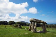 Colline Pembrokeshire Galles di Preseli della camera di sepoltura di Pentre Ifan Fotografia Stock Libera da Diritti