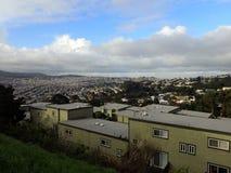 Colline residenziali di San Francisco California Fotografie Stock