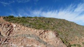 Colline rouge de roche Image libre de droits