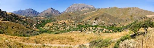 Colline sull'isola di Creta, Grecia Fotografie Stock