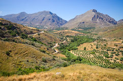 Colline sull'isola di Creta, Grecia Fotografia Stock Libera da Diritti