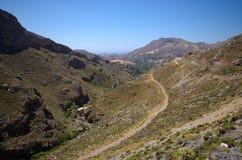Colline sull'isola di Creta, Grecia Immagine Stock