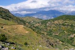 Colline sull'isola di Creta, Grecia Fotografie Stock Libere da Diritti