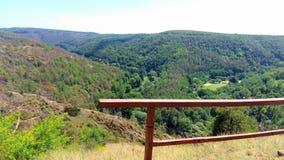 Colline sulle montagne ceche Immagine Stock
