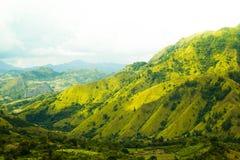 Colline sur la vallée d'Enrekang Photo stock