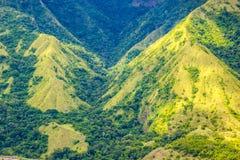 Colline sur la vallée d'Enrekang Images libres de droits