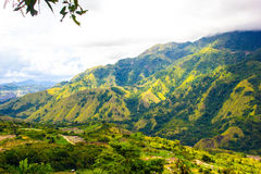 Colline sur la vallée d'Enrekang photographie stock libre de droits