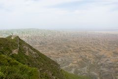 Colline verdi in primavera nella provincia di Golestan nell'Iran fotografia stock libera da diritti