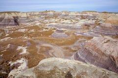 Colline verniciate del deserto fotografie stock