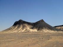 Colline volcanique de désert noir, Egypte, près de Farafra Photo libre de droits