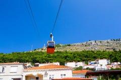 Collines au-dessus de Dubrovnik Image stock
