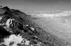 Collines azerbaïdjanaises en noir et blanc Images libres de droits