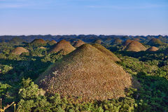 Collines Bohol Philippines de chocolat Photos stock